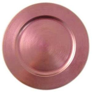 """Tabletop Classics TRPK-6651 13"""" Pink Round Polypropylene Charger Plate"""