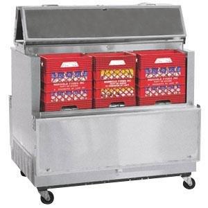"""Master-Bilt DOMC-164SS-A Stainless Steel Dual Access Milk Cooler - 63"""""""