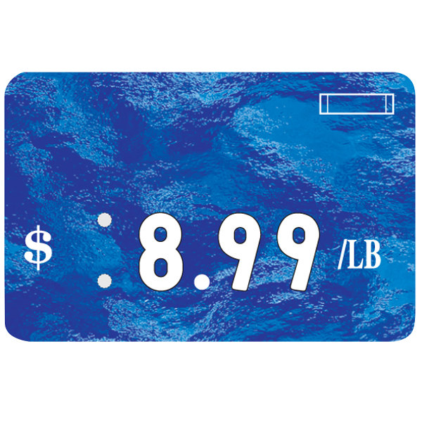 Universal Deli Number Tag - Sea Blue - 25/Pack