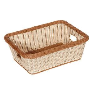 "GET WB-1515-TT Designer Polyweave 18 1/2"" x 13 1/2"" x 6 3/4"" Two-Tone Rectangular Plastic Basket - 6/Pack Main Image 1"