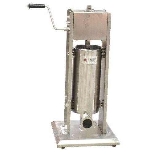 Manual 11 lb. Vertical Economy Sausage Stuffer with Stainless Steel Funnels