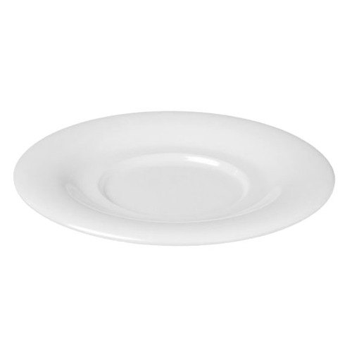 """Thunder Group CR9108W 5 1/2"""" White Melamine Saucer for 8 oz. Bouillon Cup and 4 oz. Salad Bowl - 12/Pack Main Image 1"""