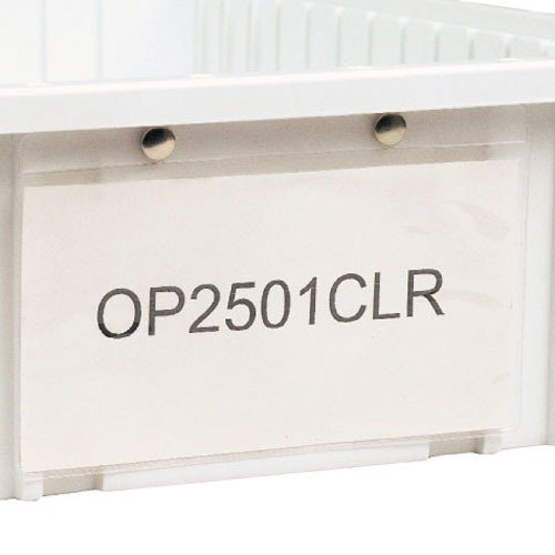 "Metro OP2501CLR Snap-On Card Holder - 4 1/2"" x 7 3/4"""