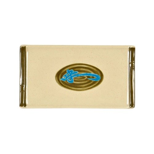 """Thunder Group 0011J Wei 8 1/2"""" x 4 3/4"""" Rectangular Melamine Sashimi Platter - 12/Pack"""