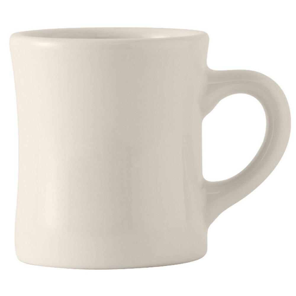 Tuxton Bem 090b Duratux 9 Oz American White Diner Mug 4