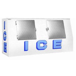 Polar Temp VT570CW Cold Wall Low Profile Outdoor Ice Merchandiser - 60 cu. ft.
