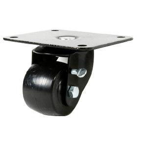 """True 881029 2 1/2"""" Swivel Plate Casters - 4/Set"""