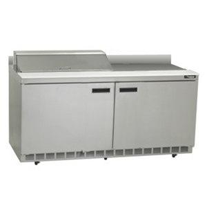 "Delfield ST4464N-8 64"" 2 Door Refrigerated Sandwich Prep Table with 4"" Backsplash"