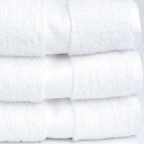 "Hotel Hand Towel - Welcam 16"" x 27"" 86/14 Cotton / Poly 3 lb. - 120/Case"