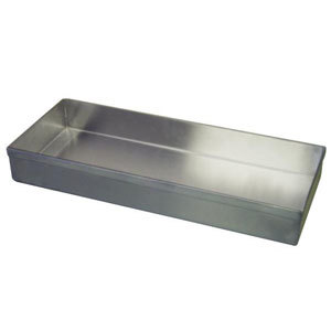 """Winholt WHSSBX-815/2H/4DH Stainless Steel Display Tray with Drain Holes - 8"""" x 15"""" x 2"""""""