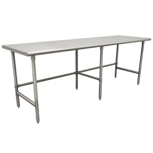 """Advance Tabco TGLG-3010 30"""" x 120"""" 14 Gauge Open Base Stainless Steel Commercial Work Table"""