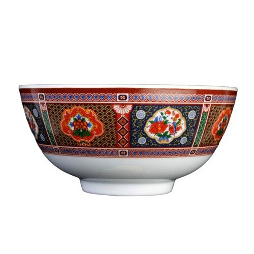 Thunder Group 3006TP Peacock 9 oz. Round Melamine Rice Bowl - 12/Case