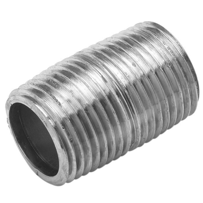 """T&S 002535-25 Close Nipple with 3/8"""" NPT Male Connections"""