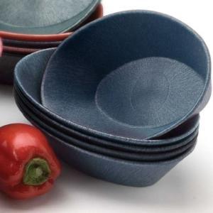 "HS Inc. HS1011L 10"" x 6"" x 2 1/2"" Blueberry Polyethylene Large Oval Basket - 24/Case"