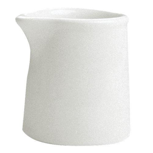 Hall China 377.5 BW Bright White 3 oz. Tankard Creamer - 72/Case