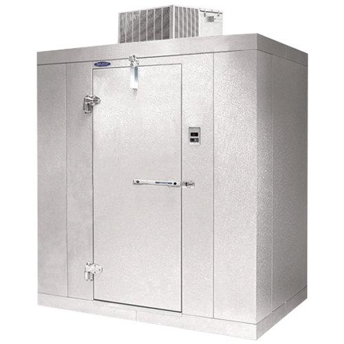 """Lft. Hinged Door Nor-Lake KLF7746-C Kold Locker 4' x 6' x 7' 7"""" Indoor Walk-In Freezer"""