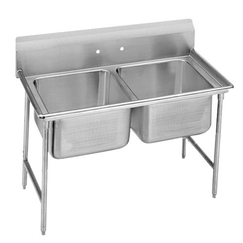 ... Tabco T9-2-36 Two Compartment Stainless Steel Commercial Sink - 44