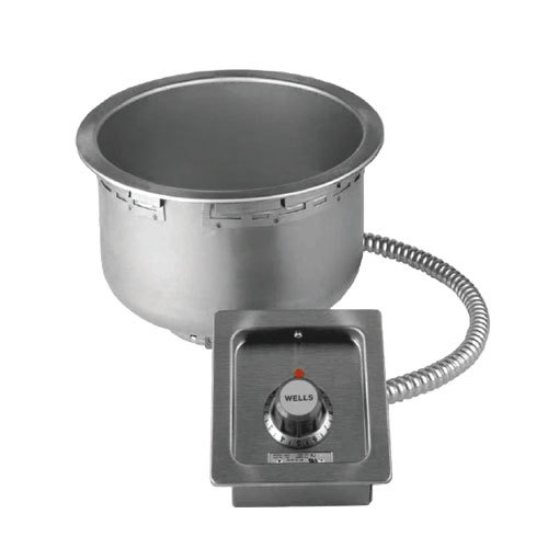 Wells 5P-SS10TD 11 Qt. Round Drop-In Soup Well with Drain - Top Mount, Thermostatic Control, 208/240V Main Image 1