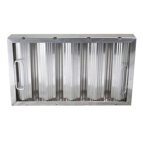 "All Points 26-3917 10"" x 20"" x 2"" Aluminum Hood Filter - Ridged Baffles"