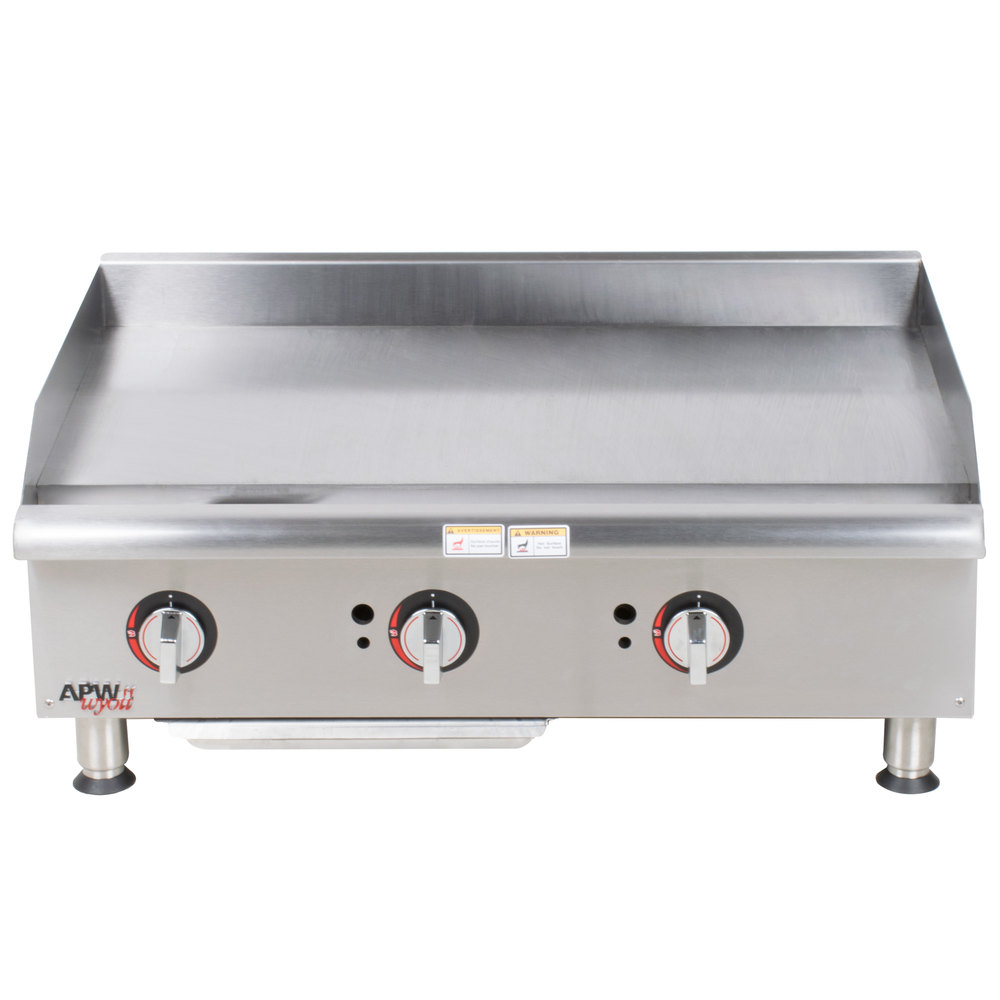 apw wyott ggm 36i champion 36 countertop griddle with manual controls and 2 safety pilots 75 000 btu apw wyott ggm 36i champion 36\