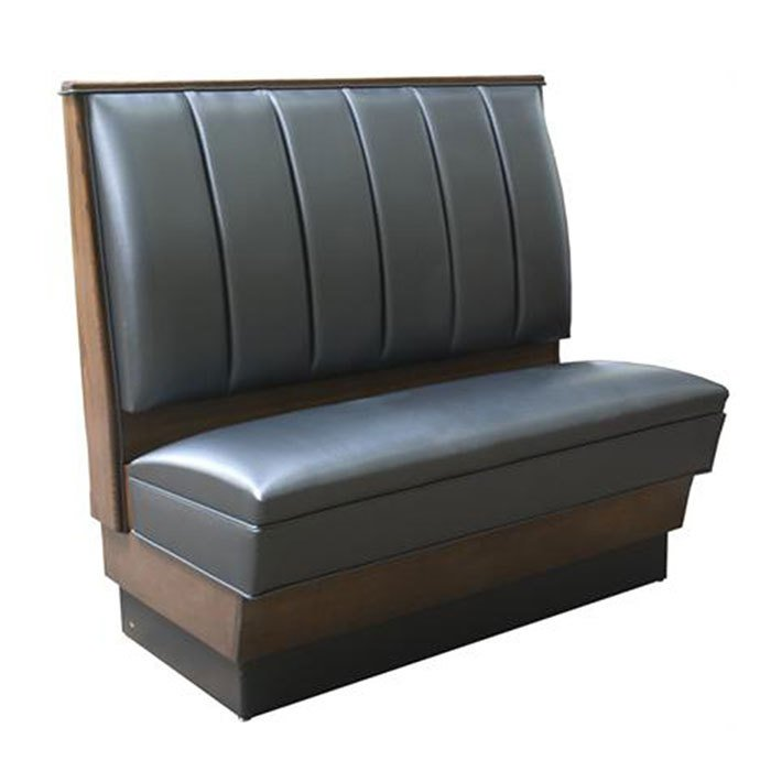 "American Tables & Seating AS-366-D 30"" Single Deuce 4 Channel Back Upholstered Booth Main Image 1"