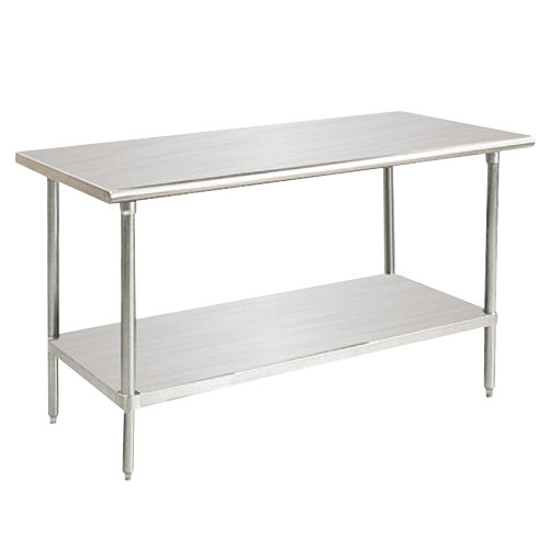 """Advance Tabco SAG-240 24"""" x 30"""" 16 Gauge Stainless Steel Commercial Work Table with Undershelf"""