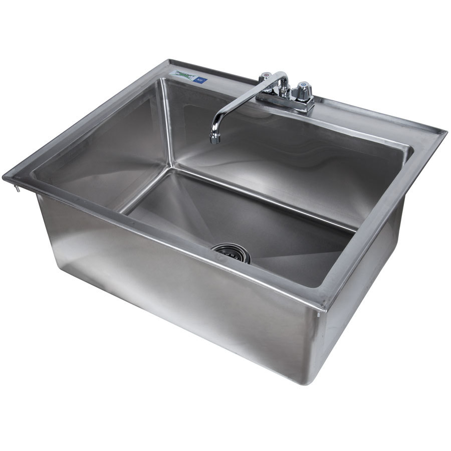 Stainless Steel Sink 16 Gauge : ... 16-Gauge Stainless Steel One Compartment Drop-In Sink with 12