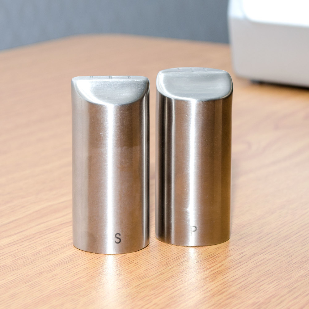 tablecraft   oz marina stainless steel salt and pepper shaker  -  image preview · image preview