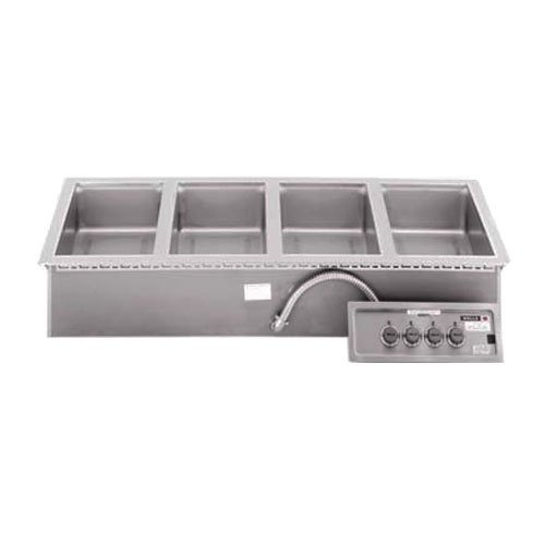 Wells MOD400TD 4 Pan Drop-In Hot Food Well with Drains - Thermostatic Control