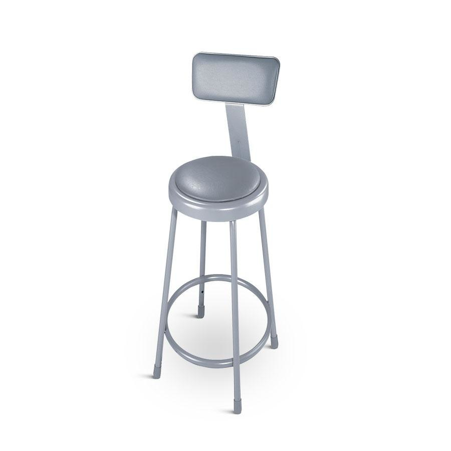 National Public Seating 6430b 30 Quot Round Padded Lab Stool