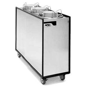 """APW Wyott Lowerator ML3-9A/12A/12A Mobile Enclosed Adjustable Unheated Three Tube Dish Dispenser for 3 1/2"""" to 12"""" Dishes"""