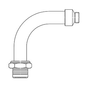 T&S BF-0034-A Big Flo Swivel Adapter Assembly Main Image 1