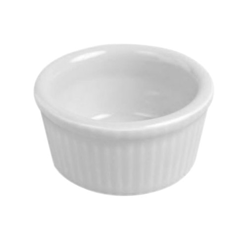 Hall China 8340ABWA Bright White 2.75 oz. Fluted Ramekin - 36/Case