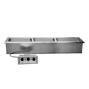 Delfield N8768N Narrow Three Pan Drop In Hot Food Well without Drain Main Image 1
