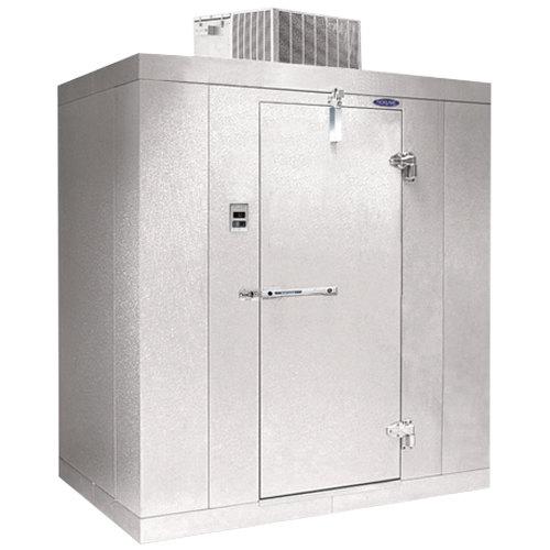 """Rt. Hinged Door Nor-Lake KLF77612-C Kold Locker 6' x 12' x 7' 7"""" Indoor Walk-In Freezer"""