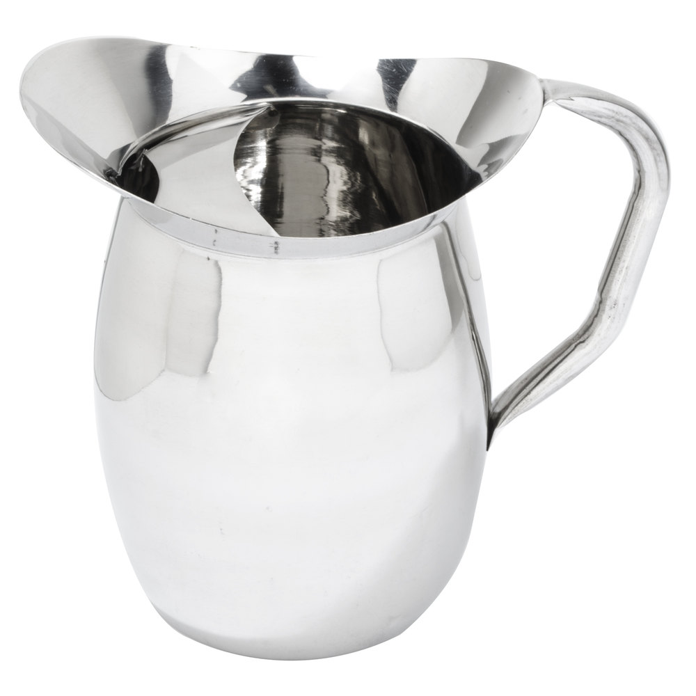 qt stainless steel bell pitcher with ice guard -  stainless steel bell pitcher with ice guard main picture