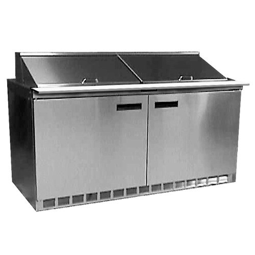 """Delfield UCD4460N-18M 60"""" 4 Drawer Mega Top Reduced Height Refrigerated Sandwich Prep Table"""