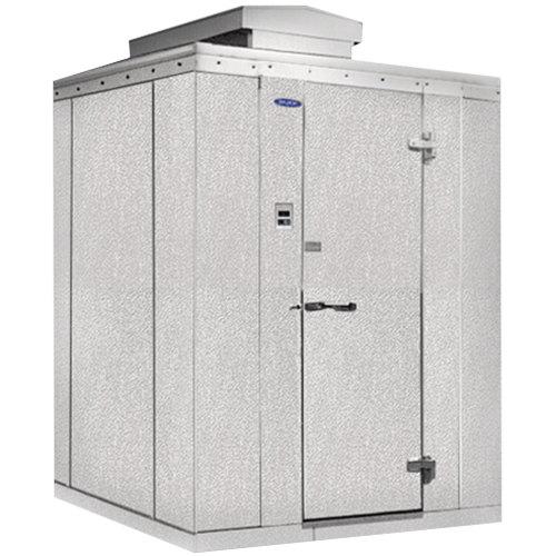 """Rt. Hinged Door Nor-Lake KODF7766-C Kold Locker 6' x 6' x 7' 7"""" Outdoor Walk-In Freezer"""