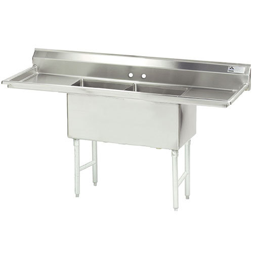 Compartment Sink : ... Line Fabricated Two Compartment Pot Sink with Two Drainboards - 84