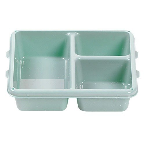 "Cambro 9113CW414 Camwear Teal 9"" x 11"" 3 Compartment Meal Delivery Tray - 24/Case"