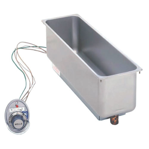 Wells HMP6D Half Size 1 Pan Drop-In Hot Food Well with Drain - Top Mount, Thermostat Control