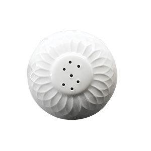 "Homer Laughlin 3217000 Gothic 2 3/4"" Ivory (American White) China Salt Shaker - 36/Case"