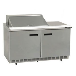 "Delfield UC4448N-8 48"" 2 Door Reduced Height Refrigerated Sandwich Prep Table"