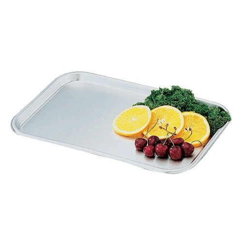 """Vollrath 80130 Oblong Stainless Steel Serving / Display Tray - 13 5/8"""" x 9 3/4"""""""