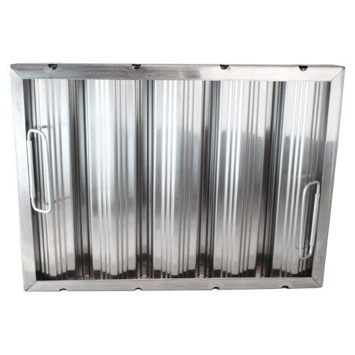 """All Points 26-3891 12""""(H) x 16""""(W) x 2""""(T) Stainless Steel Hood Filter - Ridged Baffles Main Image 1"""