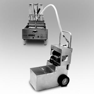 MirOil MOS 1050 105 lb. Fryer Oil Electric Filter Machine and Discard Trolley - Countertop 120V Main Image 1