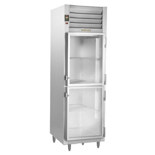 Traulsen Stainless Steel RHF132WP-HHG Glass Half Door Single Section Reach In Pass-Through Heated Holding Cabinet - Specification Line