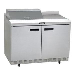 "Delfield ST4448N-8 48"" 2 Door Refrigerated Sandwich Prep Table with 4"" Backsplash"