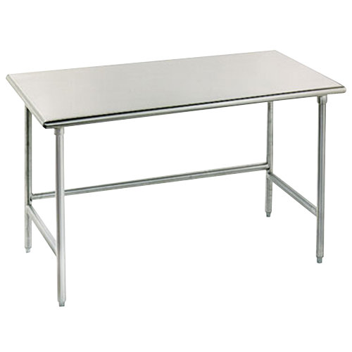 """Advance Tabco TAG-367 36"""" x 84"""" 16 Gauge Open Base Stainless Steel Commercial Work Table"""