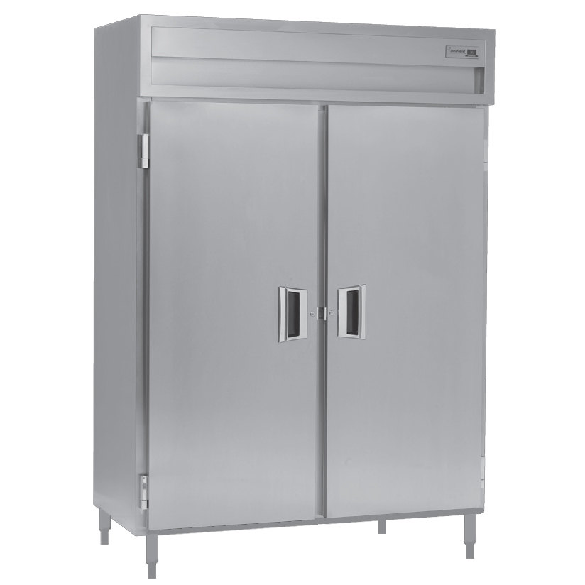 Delfield Stainless Steel SSH2-S 51.92 Cu. Ft. Solid Door Two Section Reach In Heated Holding Cabinet - Specification Line